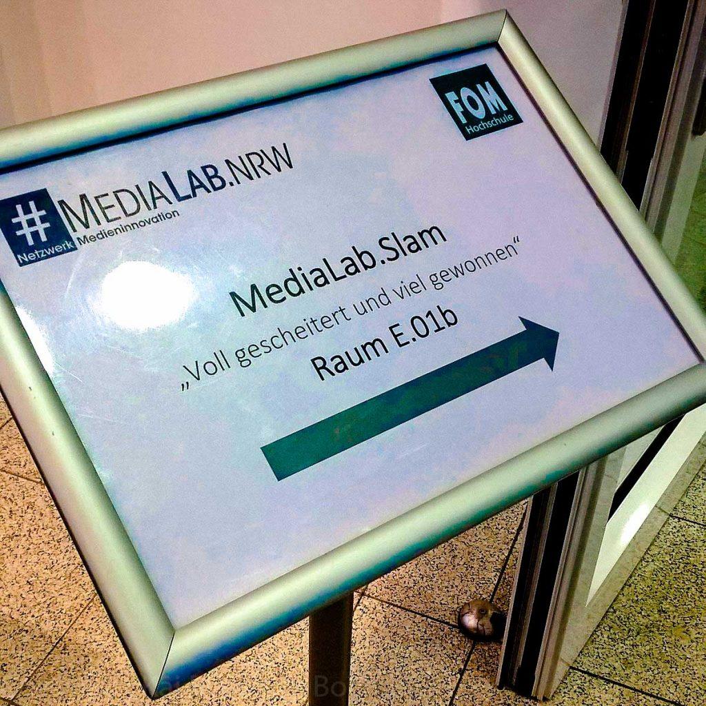 Fotos vom MediaLab.Slam am 25. Oktober 2016 in Essen in der FOM Hochschule.