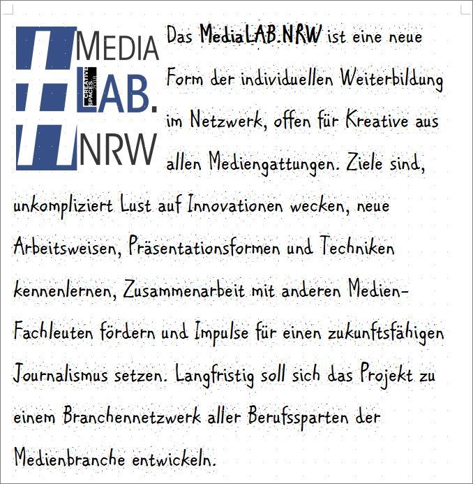 Das MediaLAB.NRW ist eine neue Form der individuellen Weiterbildung