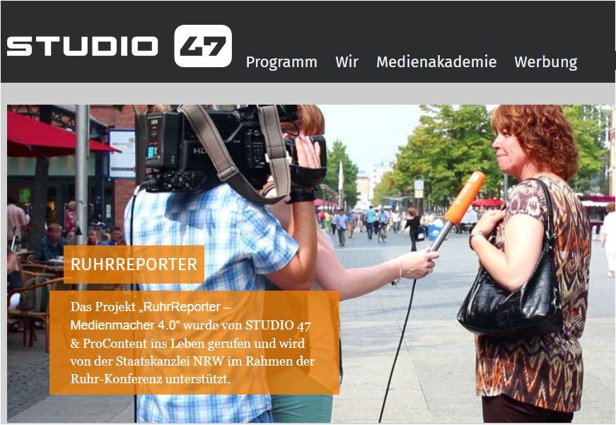 Homepage der RuhrReporter